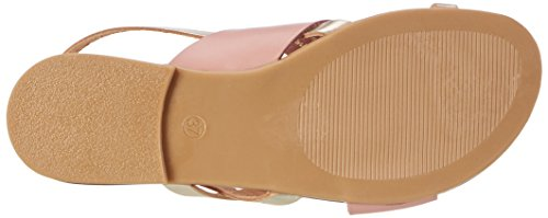 PIECES Sandalias Rosa Leather Dawn Rose Sandal Multi Mujer para Psjoyce con Cuña qT6OqSx