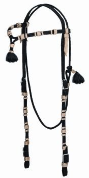 Vaquero Headstall - Horse Black/Tan