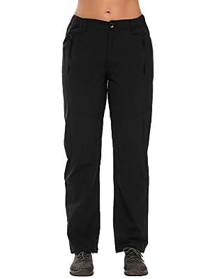 Zeagoo Women Lightweight Waterproof Quick Drying Mountain Hiking Rain Work Cargo Pants