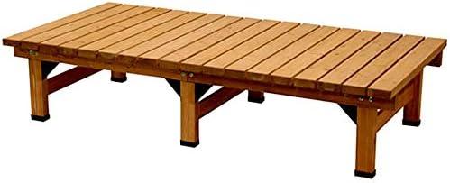 ライトブラウン/Abelia Bench 180×90 デッキ縁台 縁台 ウッドデッキ デッキ シンプル ブラウン お手軽 便利