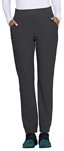 HeartSoul Break On Through Women's Charm Natural Rise Tapered Leg Pant (Pewter, X-Small) ()