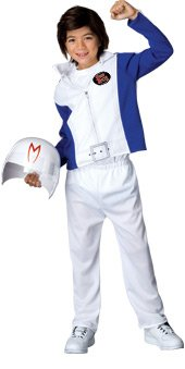 Deluxe White Jumpsuit Costumes (Speed Racer Deluxe Child Costume (Small) by Rubie's)