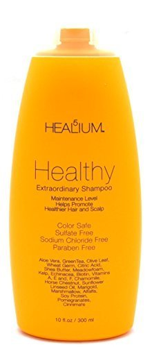 Healthy Shampoo, 10 oz - Sunscreen Oil Absorbing Moisturizing -Products for Men, Women, Curly, Frizzy, Fine, Thin Textures by Healium -