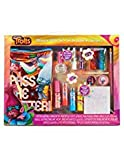 Townley Girl Dreamworks Trolls Ultimate Glitter Set with Lip Stick, Nail Polish, Glitter, Nail Foils, Tattoos and Bag