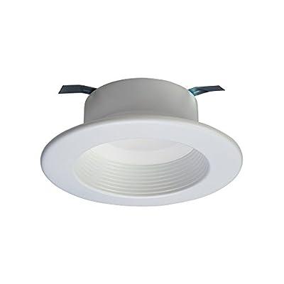 RL 4 in. Matte White Integrated LED Recessed Lighting Retrofit Downlight Baffle Trim with 90 CRI, 3000K Soft White