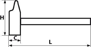 Sam Outillage 307-16TM Marteau menuisier tri mati/ère 16,5 mm
