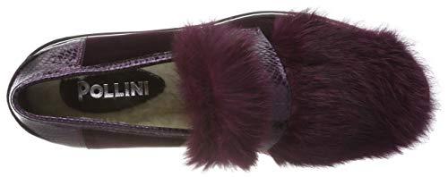 Violett Para Pollini burgundy 55a Mujer Rabbit Mocasines Tale TwWSqzpg