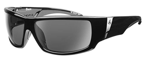 Ryders Bison R853-001 Polarized Wrap Sunglasses, Black, 55 - Bugaboos Sunglasses