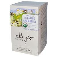 Allegro Fine Tea Organic Relaxing Chamomile Caffeine Free 20 Tea Bags 1.05 oz (30 g) (Pack of 6) by Allegro