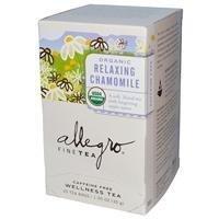 Allegro Fine Tea Organic Relaxing Chamomile Caffeine Free 20 Tea Bags 1.05 oz (30 g) (Pack of 6)