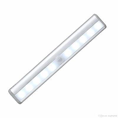 COBOOT Wardrobe Light, Motion Sensing Light Bar with Magnetic Strip, White Led Light Strip Battery Operated
