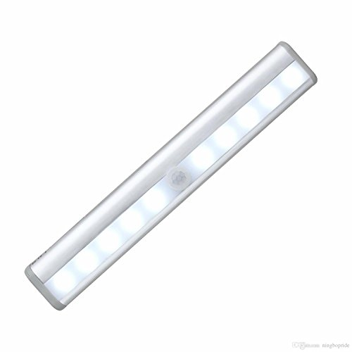 Richome Wireless Motion Sensing Light Bar With Magnetic Strip White Led Battery Operated