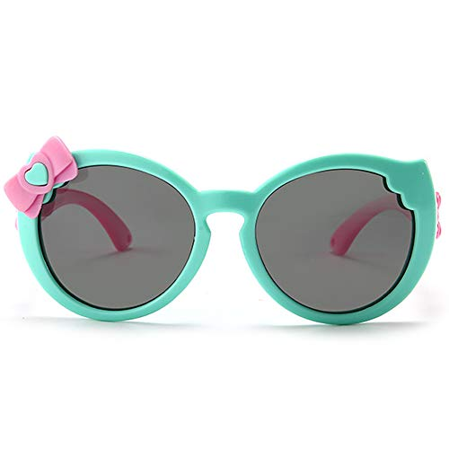 Fantia Children's Cartoon Cute Polarized Sunglasses Baby Rosette Kids Eyeglasses (C1, 52)
