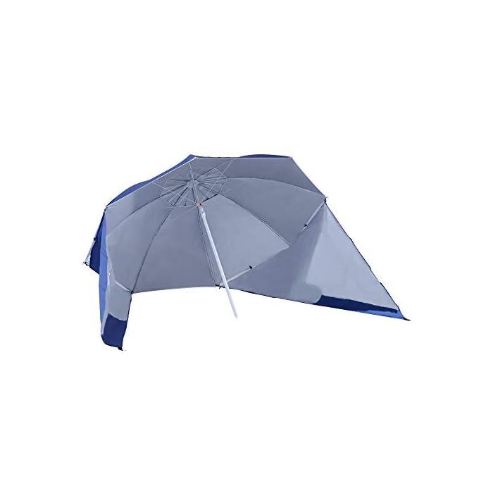 31oDbAPPEZL ✅Sombrilla 2 en 1: Parasol tradicional + Tienda espaciosa con paneles laterales paravientos. Equipado con 5 ganchos y 1 lazo D para mayor fijación. ✅Cubierta de tela poliéster de alta calidad con revestimiento UV50, que protege eficazmente contra el sol y los rayos UV. Resistente a las inclemencias del tiempo. ✅Cubierta de tela poliéster de alta calidad con revestimiento UV50, que protege eficazmente contra el sol y los rayos UV. Resistente a las inclemencias del tiempo.