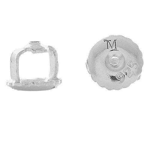 925 Sterling Silver Set of Trustmark Replacement Screw Backs for 1mm Diameter Threaded Post Earrings