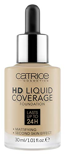 Catrice   HD Liquid Coverage Foundation   High & Natural Coverage   Vegan & Cruelty Free (032   Nude Beige)