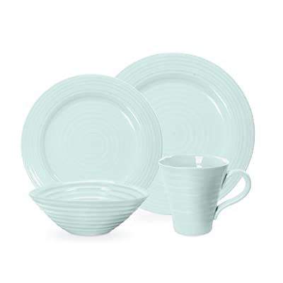 Portmeirion Sophie Conran Celadon 4 Piece Placesetting - Place Setting includes Dinner Plate, Salad Plate, Cereal Bowl and Mug Highest Quality Porcelain Body Dishwasher and Microwave Safe - kitchen-tabletop, kitchen-dining-room, dinnerware-sets - 31oDcIxWClL. SS400  -