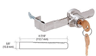 CRL Chrome ''Adjustable'' Sliding Glass Door Lock with Thumb Screw Adjustment for up to 1/2'' Thick Door