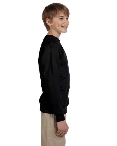Hanes Boys Youth ComfortBlend EcoSmart Crewneck Sweatshirt(P360)-Black-L (Youth Comfortblend Crewneck Sweatshirt)