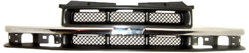 - OE Replacement Chevrolet S10 Pickup/S10 Blazer Grille Assembly (Partslink Number GM1200419)