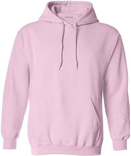 Joe's USA - Big Mens Size Extra Large Hoodie Sweatshirts-XL in Light Pink
