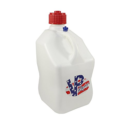 VP 5 Gallon Square White Patriotic Racing Utility Jug by VP Racing Fuels (Image #1)