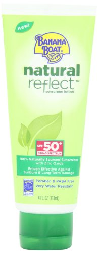 Banana Boat naturel Reflect Lotion écran solaire FPS 50, 4 Fluid Ounce