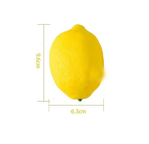 sexyrobot 12 Pcs Artificial Simulation Fruit, Lifelike Fake Yellow Lemon Home Tabletop Kitchen Party Photograph Decoration Children Toys