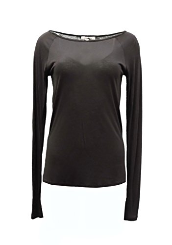 maxmara-womens-lightweight-long-sleeves-modal-blend-knit-top-sz-m-brown-140465mm