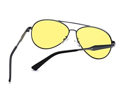 conducir Yellow Yellow de gafas visión Women nocturna de UV400 polarizada gafas Men para protección Fashion FlowerKui FqWZS1A1