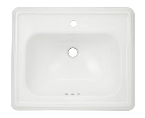 TOTO Lt531#01 Promenade 1-Hole Self Rimming Lavatory, Cotton White - 01 Promenade Lavatory
