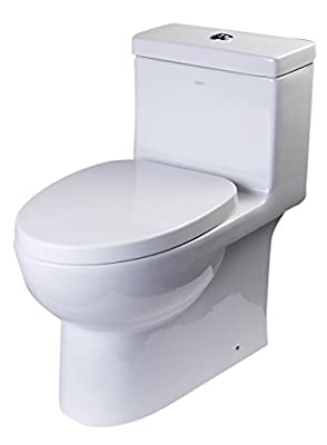 EAGO TB359 Dual Flush Eco-Friendly Ceramic Toilet, 1-Piece
