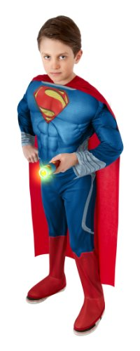 Superman Lives Costume (Rubies Superman Man of Steel Flashlight Kit)