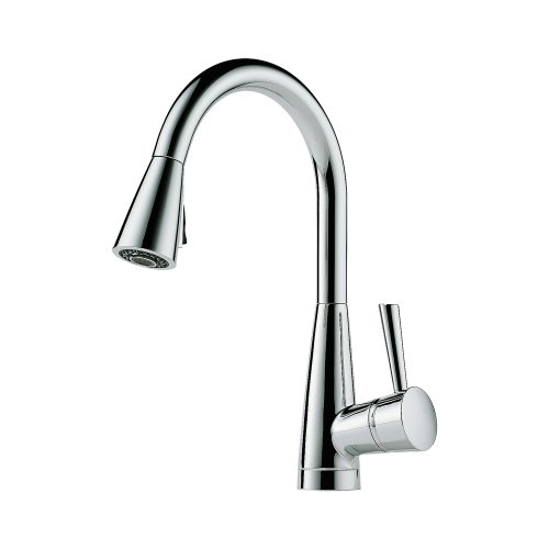 Brizo 63070LF-PC Venuto Kitchen Faucet Single Handle Deck Mount Pull-Down Spray with Magnedock Technology, Chrome