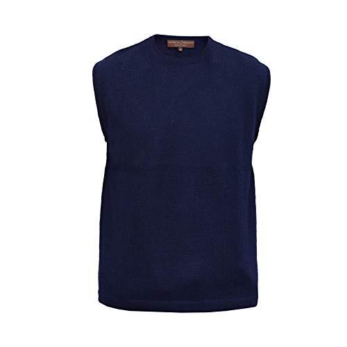 Alpaca Basics Men's Handmade 100% Alpaca Wool Vest (Navy Blue, ()