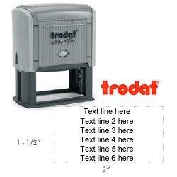 Trodat 4926 - Large Custom Rubber Stamp ()