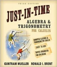 Just-In-Time Algebra and Trigonometry for Students of Calculus 3th (third) edition ebook
