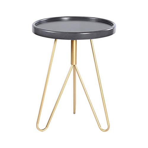LICCC Modern Minimalist Mobile Balcony Small Coffee Table Living Room Mini Side A Few Nordic Tea Tables Bedside Sofa Side Table (Size : 75.548.5cm)