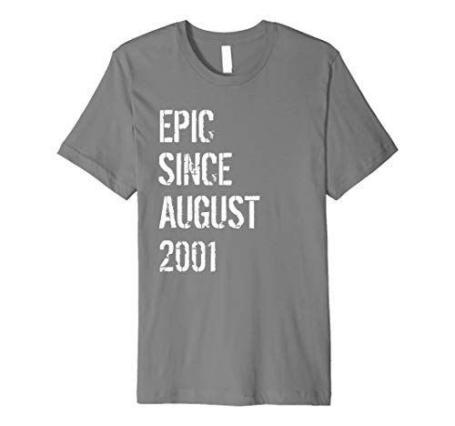 Born In August 2001 Birthday 18 Year Old Gift Premium T-Shirt