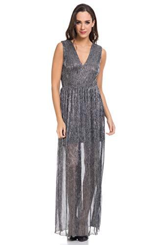 Tantra Robe Argent Femme Longue Sans Manches 7Trnx7g6z