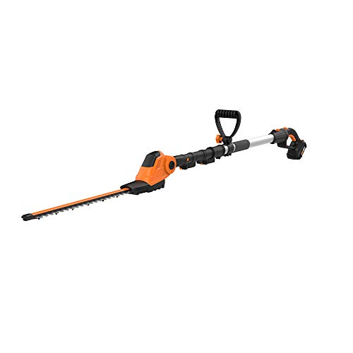 WORX WG252 20V Attachment Capable Hedge Trimmer, 20″, Black and Orange