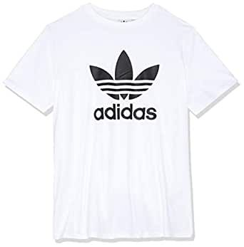 adidas Women's CV9889 Trefoil T-Shirt, White/Black, 32