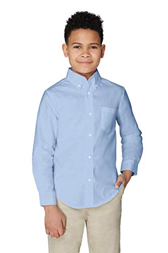 French Toast Little Boys' Long Sleeve Oxford Dress Shirt, Light Blue, ()