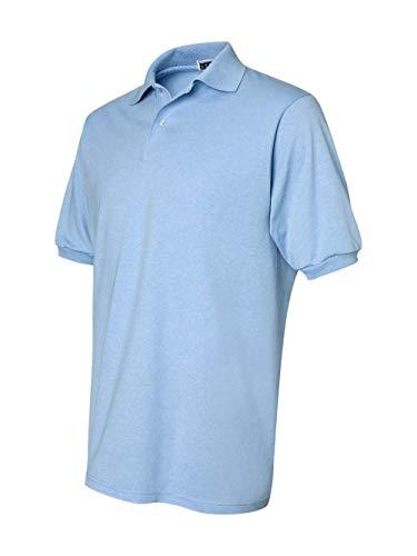 light blue polo shirt - 4