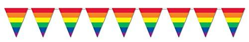 Beistle 57721 Rainbow Pennant Banner, 10 by 12-Feet
