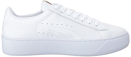 Sneaker Puma Da Donna Platform In Pelle Vikky Oro Bianco-metallizzato