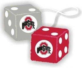 Ohio State Buckeyes Fuzzy Dice