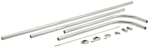 Premier 2091005 D Type Shower Rod with Ceiling Support (Shower Type Rod)