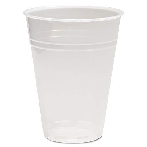 Boardwalk BWKTRANSCUP10CT Translucent Plastic Cold Cups, 10oz, 1000/carton Boardwalk Translucent Plastic Cups