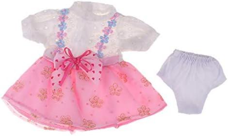 Sharplace ドール服 人形 服 ドレス 半袖 ワンピース パンツ カジュアル 16インチサロンドールのため